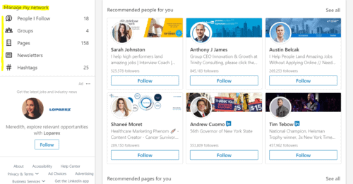 Manage My LinkedIn Network